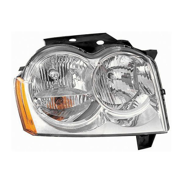 New Replacement Headlight for Jeep Grand Cherokee Passenger Side 2005 2006 2007 CH2503160