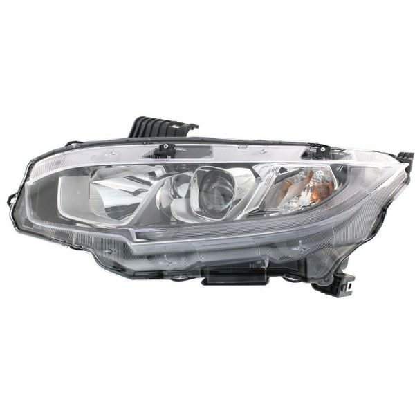 New Replacement Headlight for Honda Civic Driver Side 2016 2017 2018 2019 2020 HO2502173