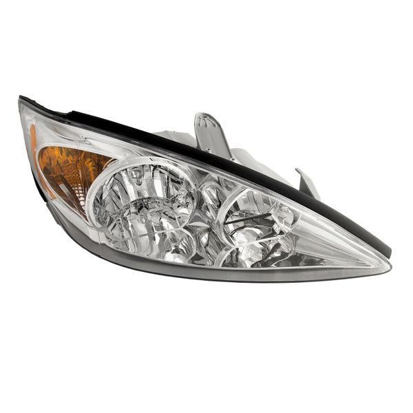 New Replacement Headlight for Toyota Camry Passenger Side 2002–2004 HLA03137R