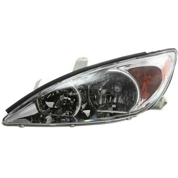 New Replacement Headlight for Toyota Camry Driver Side 2002 2003 2004 TO2502137