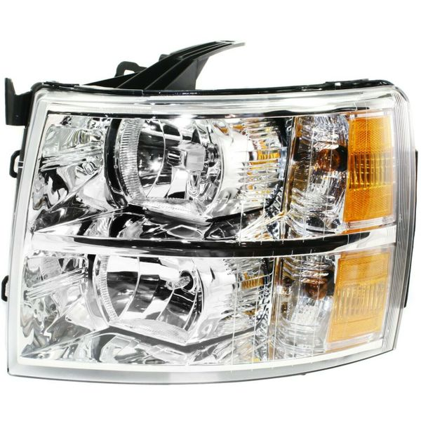 New Replacement Headlight for Chevrolet Silverado Driver Side 2007 - 2014 GM2502280